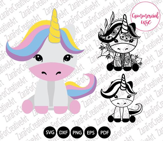 Cute Unicorn Svg Unicorn Png Digital Download Clipart Etsy In 2021 Unicorn Svg Unicorns Png Cute Unicorn