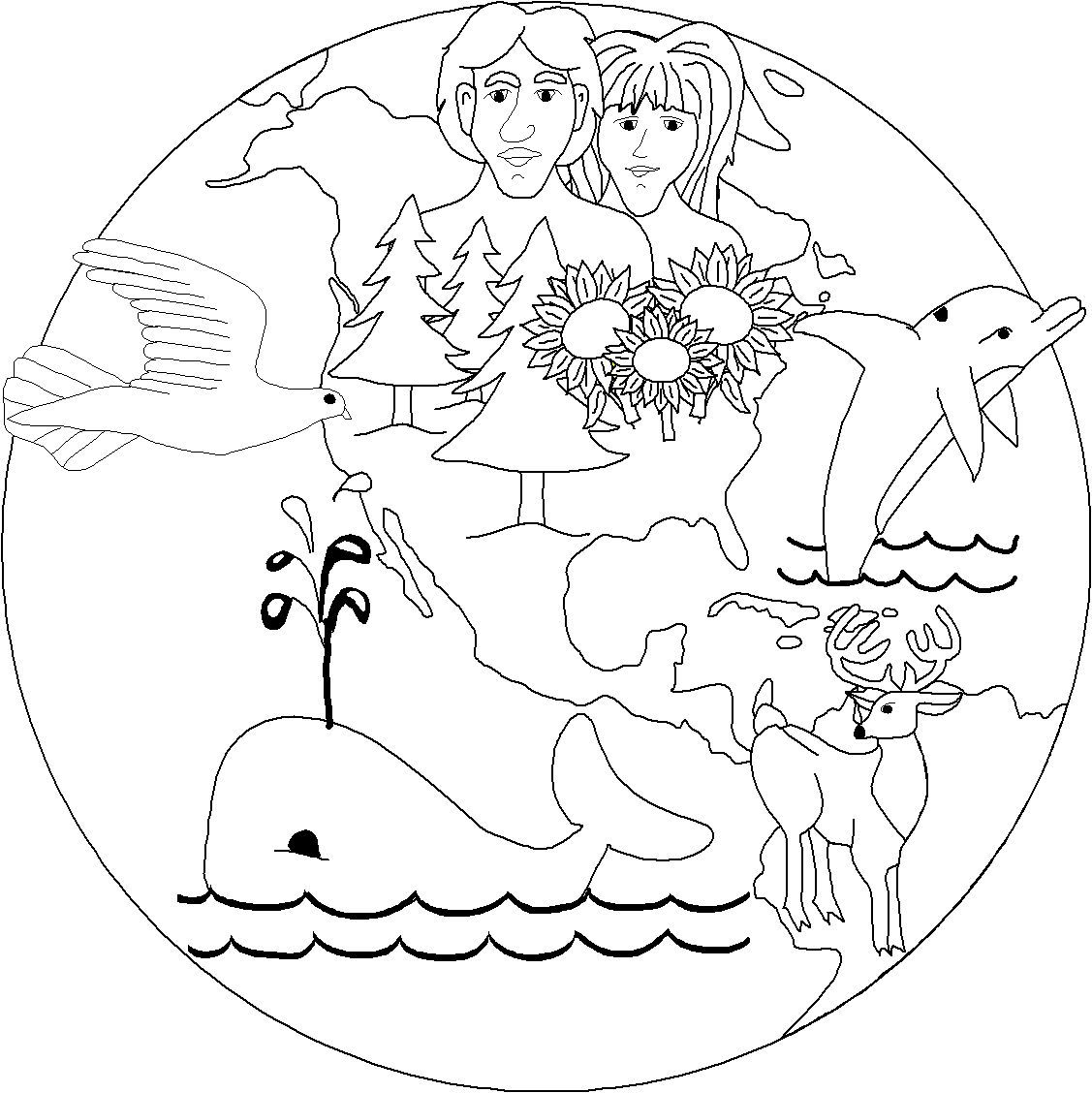 creation story coloring pages | Free Christian Graphics of creation | Bible Stories for ...