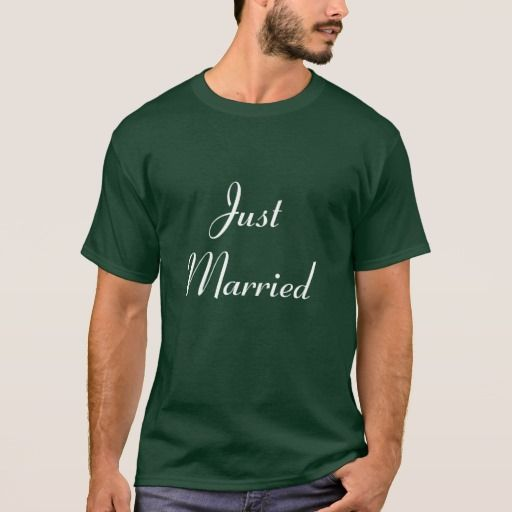 Just Married - Customized T-Shirt