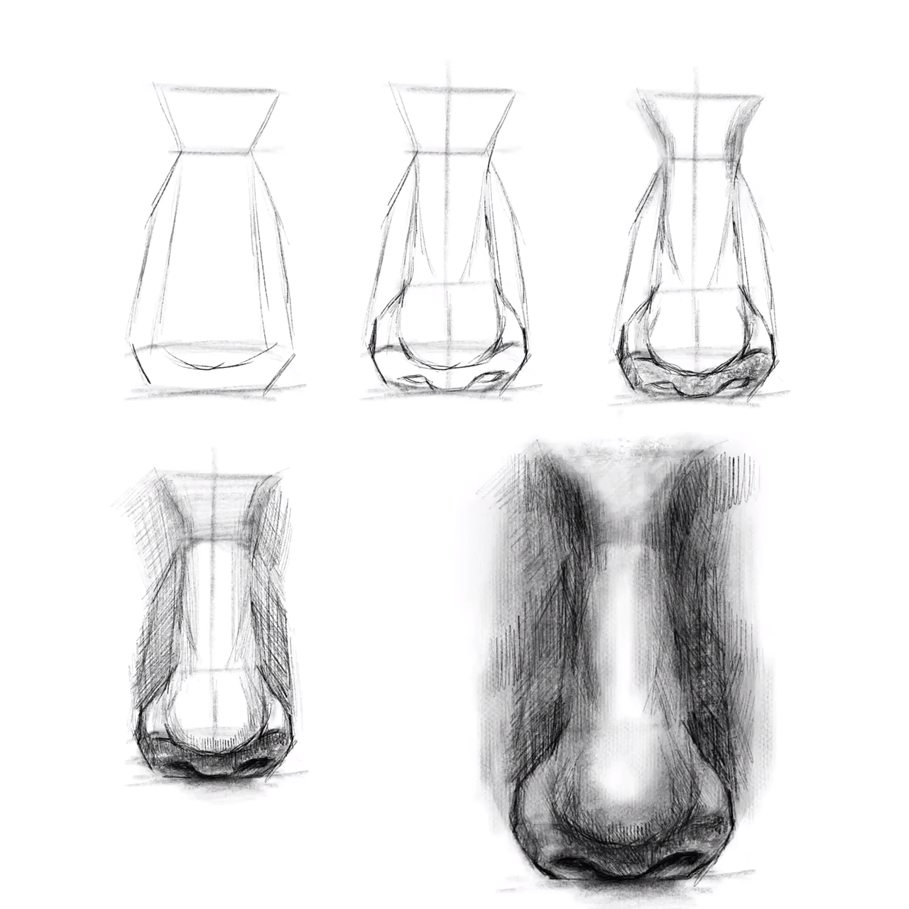 Photo of How to draw a nose, drawing tutorial, sketch skills, art education,