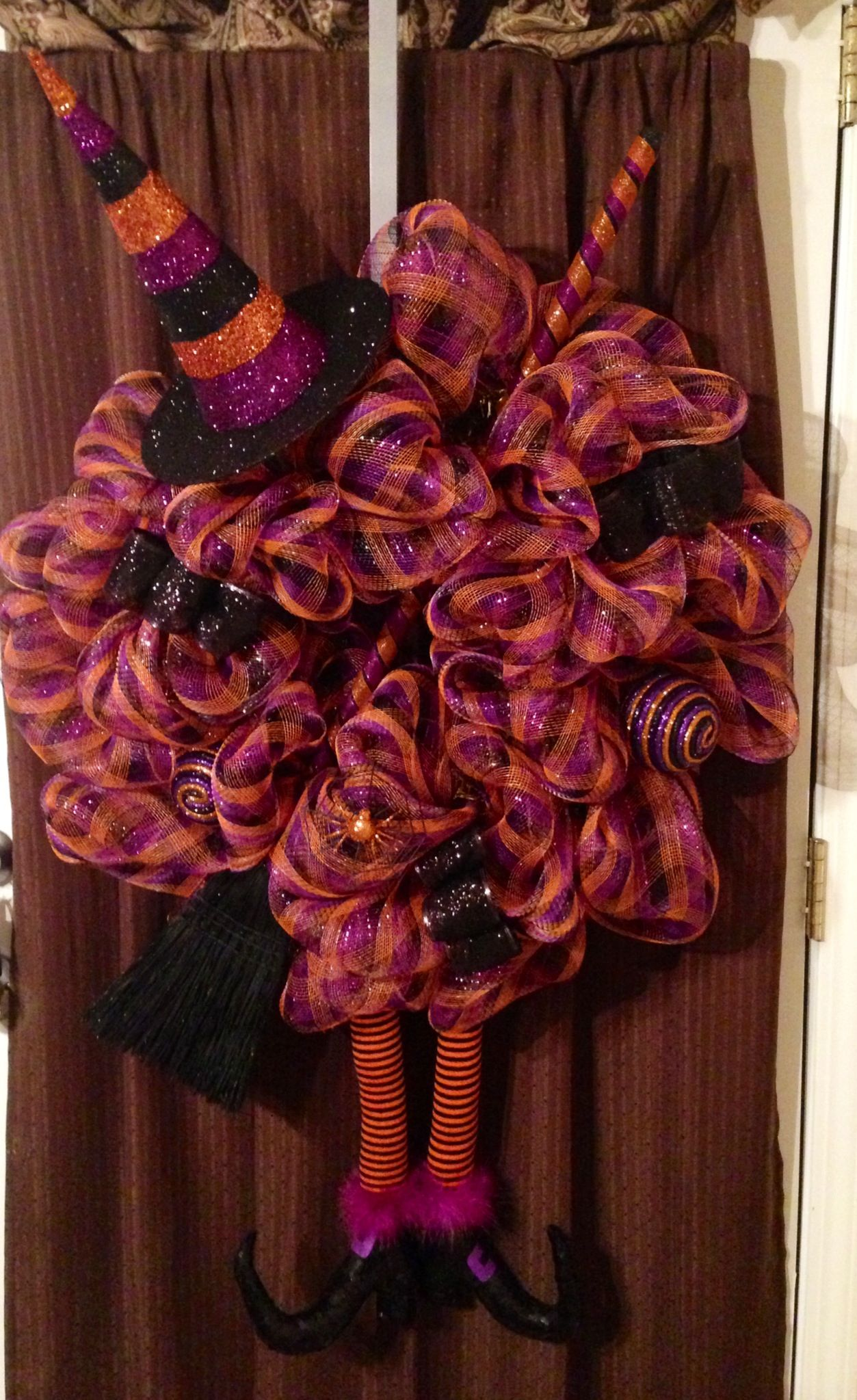 Halloween Witch Wreath 1 only $135.00  By: Nicole Leigh Designs @ nicoleleighdesigns@yahoo.com