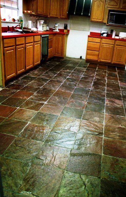 kitchen floor stone murals Kitchen Flooring Ideas with Natural