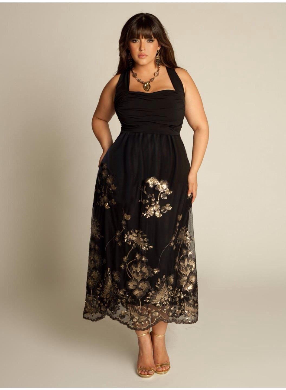 Vestido negro con dorado glor glam pinterest curves clothes