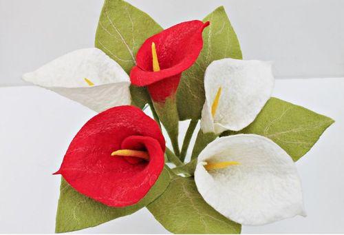 Красивые цветы в технике мокрого валяния | Валяние, Цветы ...