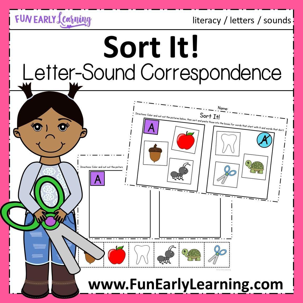 Sort It Letter Sound Correspondence No Prep Activity Letter Sounds Letter Sound Correspondence Literacy Activities Kindergarten