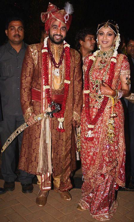 Our Favourite Bollywood Wedding Shilpa Shetty Raj Kundra Indian Bridal Dress Celebrity Wedding Photos Tarun Tahiliani Bridal