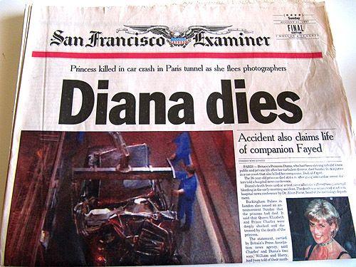 Princess Diana dies.
