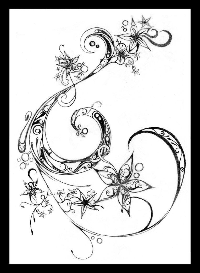 Flowers and Swirls by Fairyality on deviantART