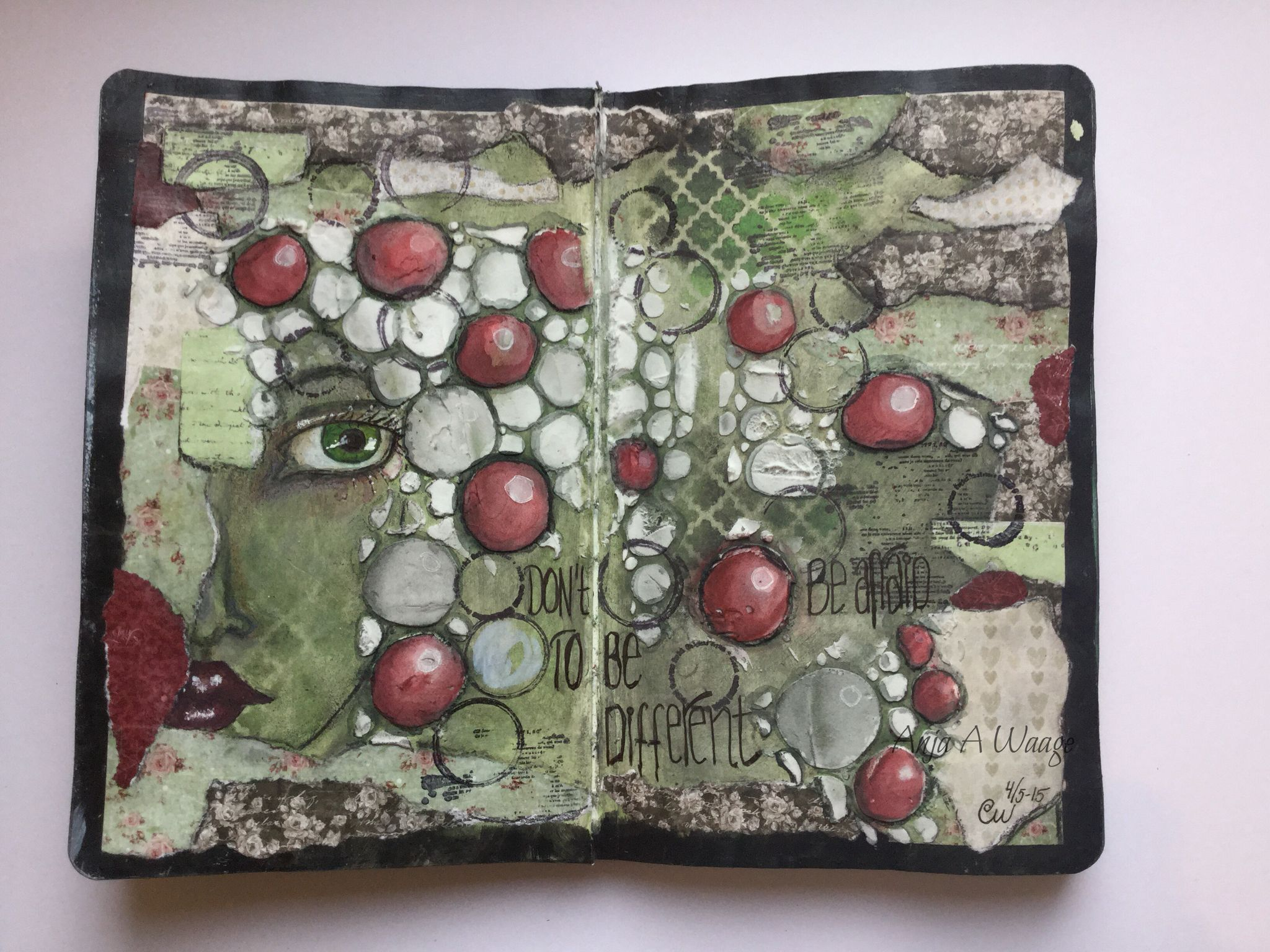 Art journal By Me...Anja A Waage