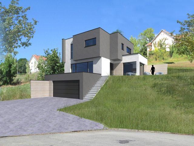maison-bois-terrain-en-pente-lorraine-innov-habitat Bydlení