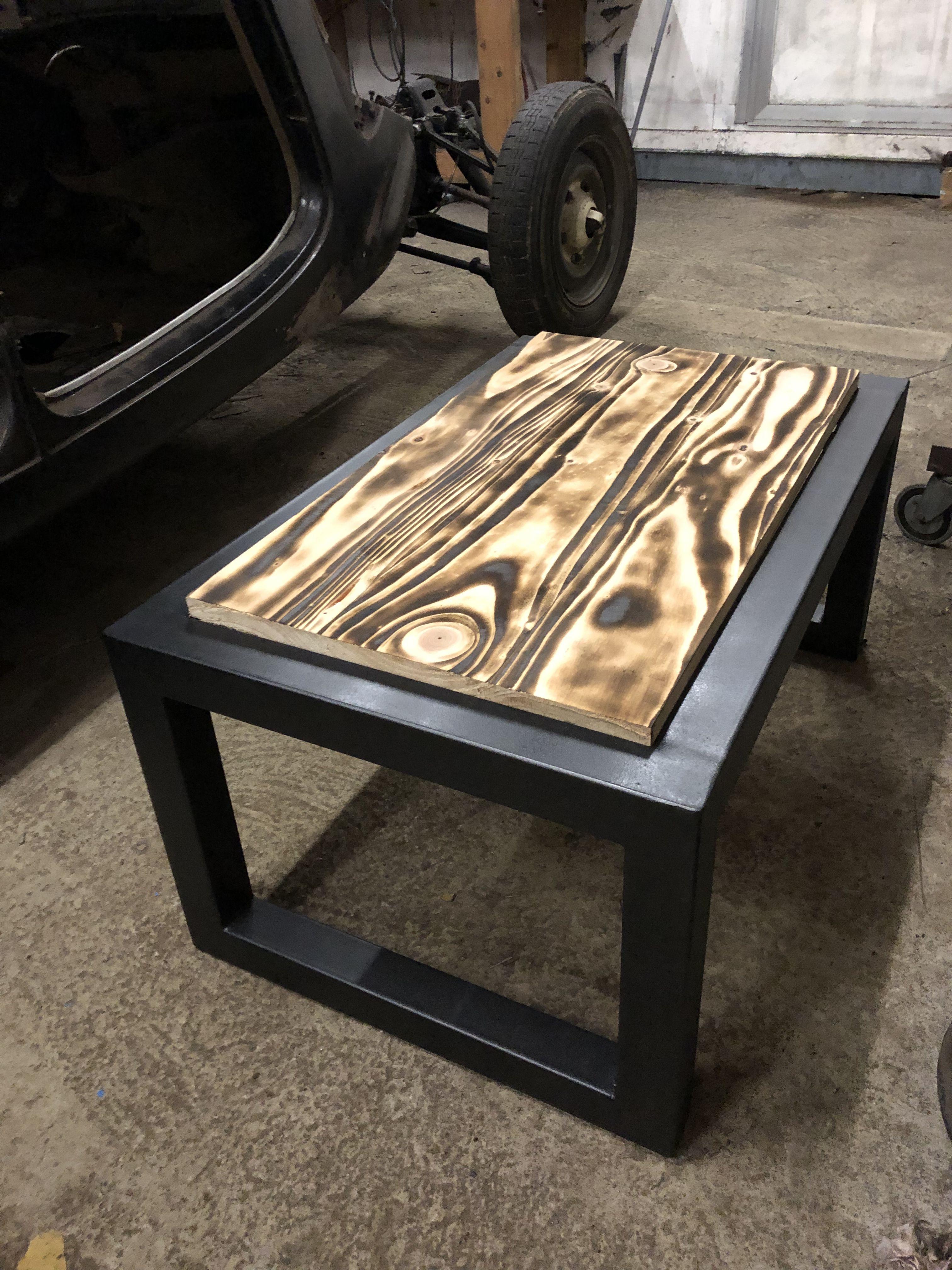 Table Metal Bois Brule Table Metal Bois Bois Brule Table Metal