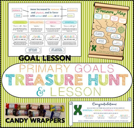 Treasure Hunt And Lesson For Primary Goals