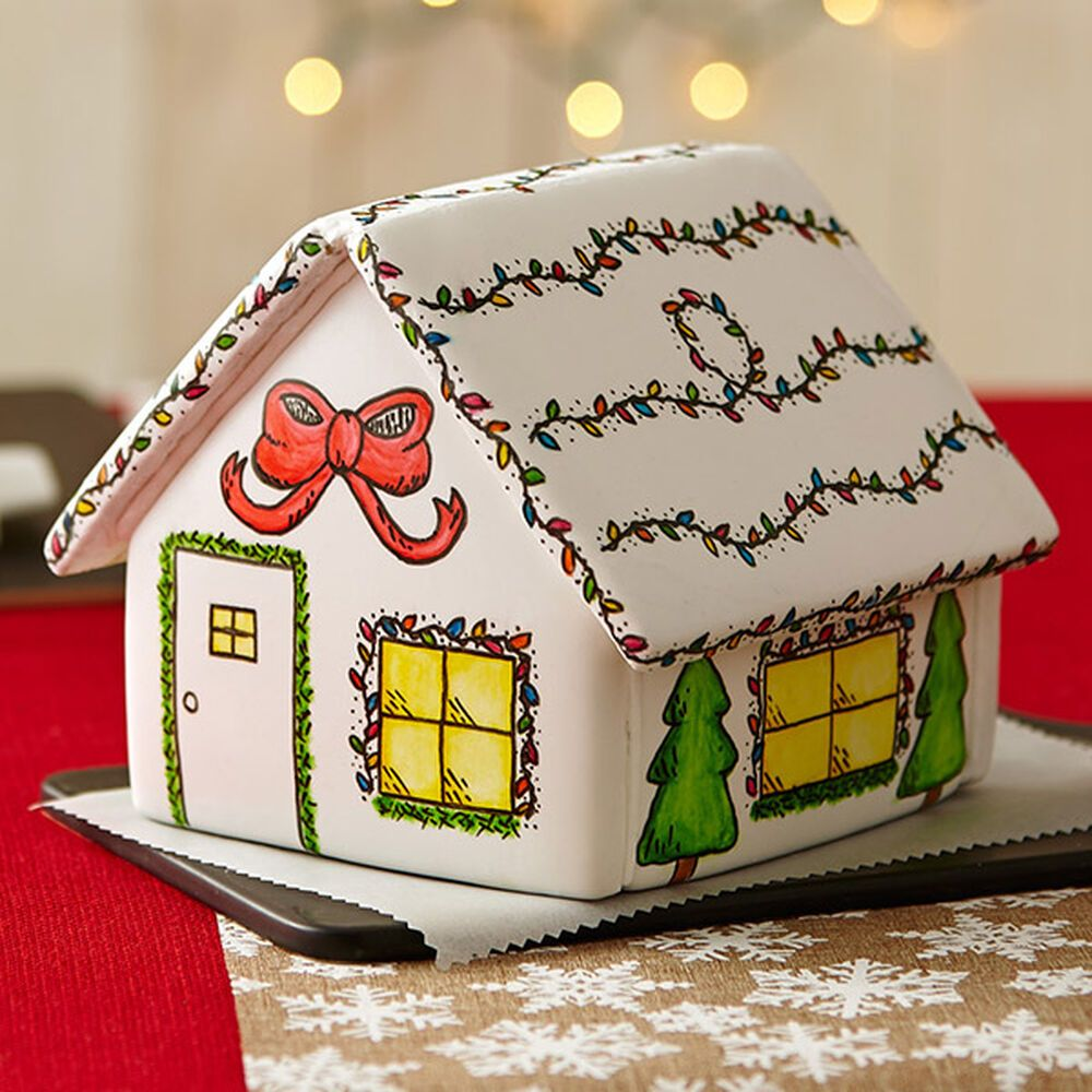 Painted Christmas Gingerbread House Recipe Christmas