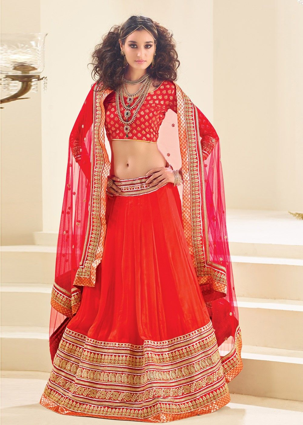 8a82dcd0cd8 These Blood Red Bridal Lehenga Images Will Make You Say Wow ...