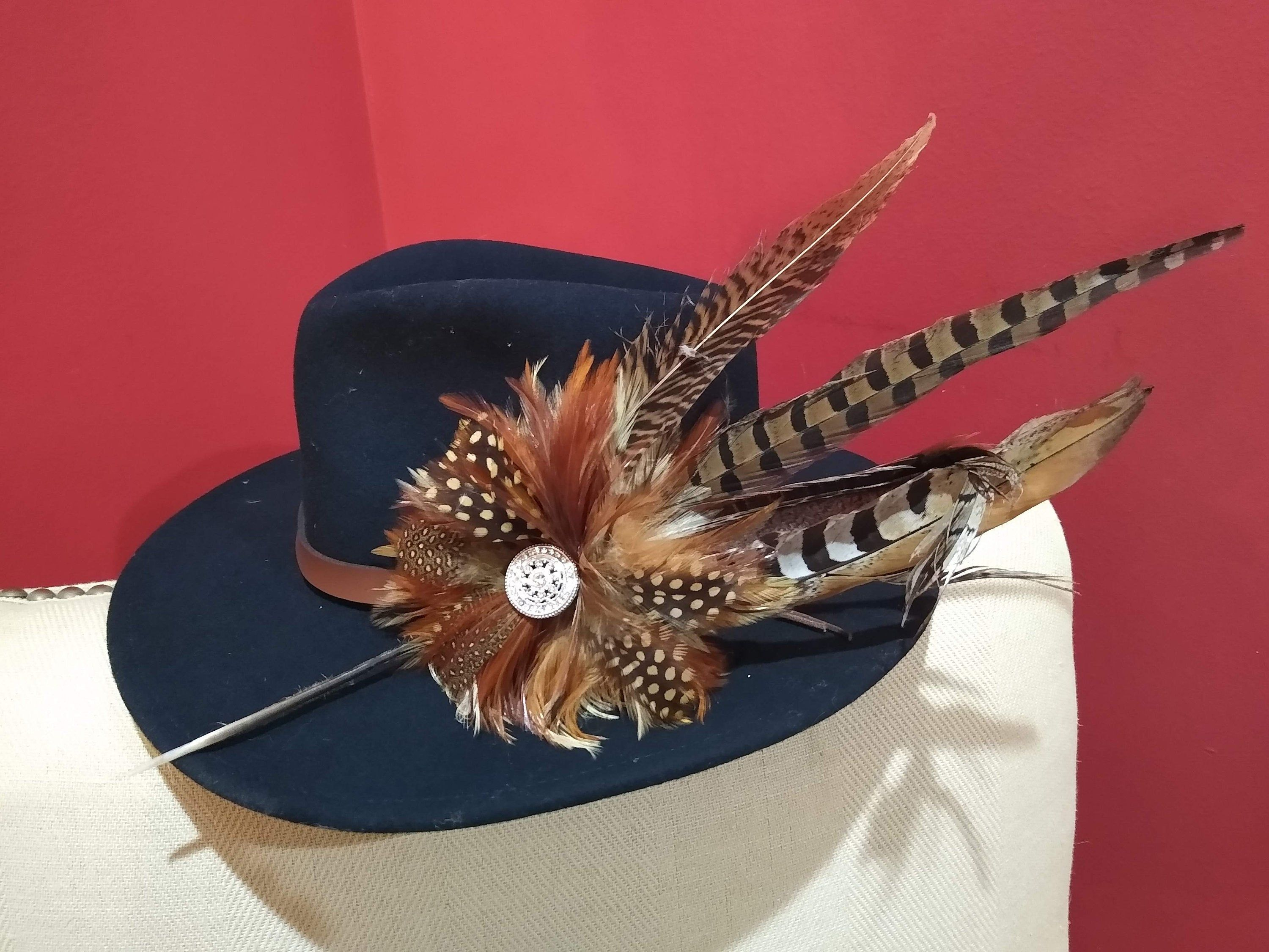 Beautiful Clip On Feather Hat Pin Etsy Feather Hat Hat Pins Feather