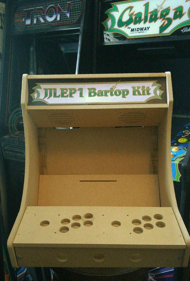 2p Bartop / Tabletop Arcade Cabinet Diy Kit Flat Pack Mdf W/ Marquee Holder  Happ