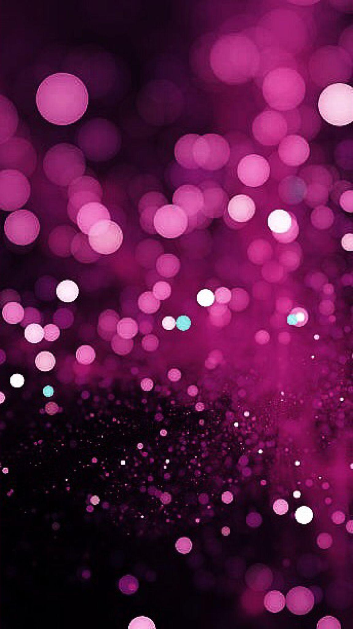 Glitter phone wallpaper Pink wallpaper iphone, Purple