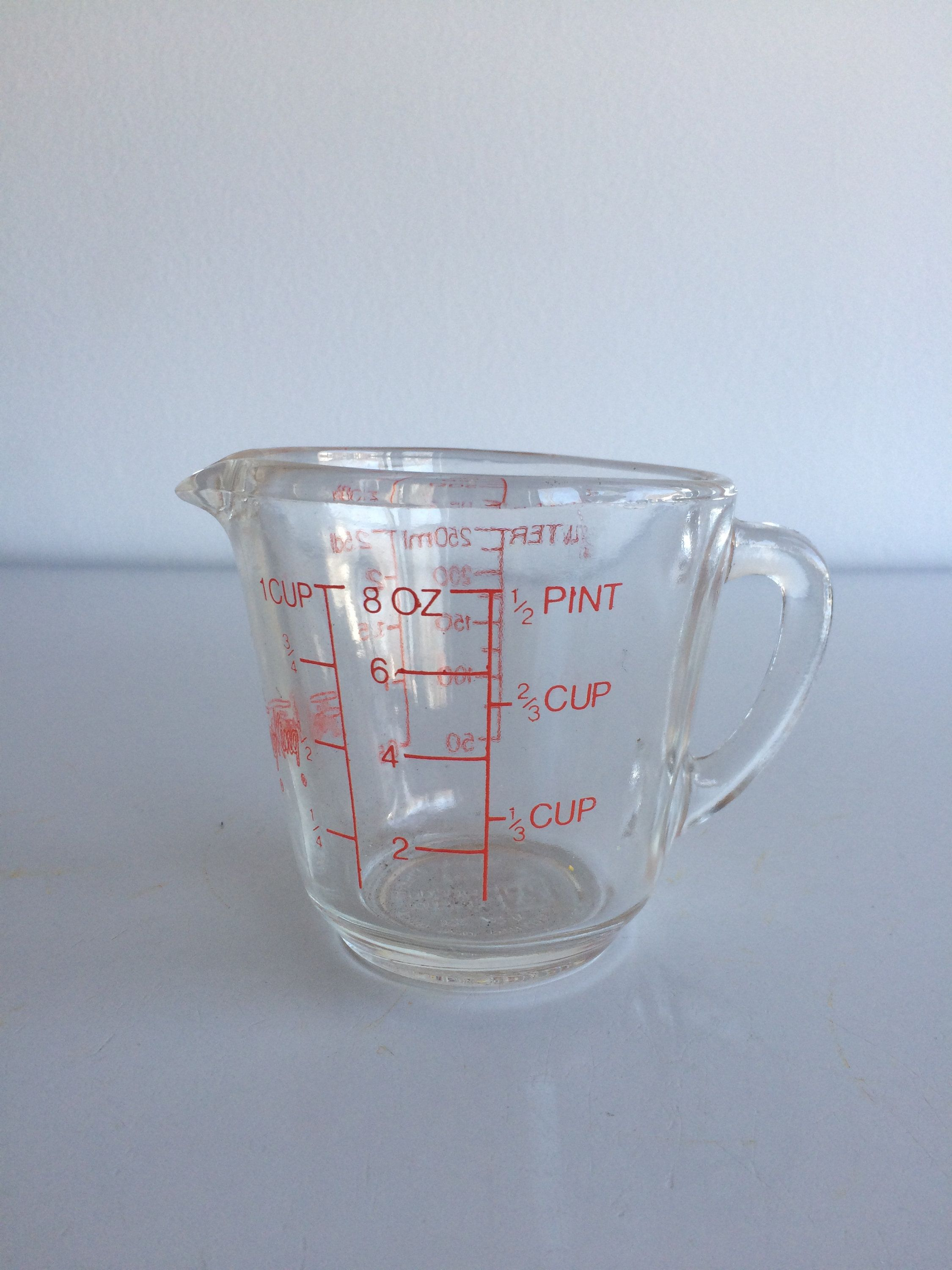 Vintage Fire King Measuring Cup 8 Ounce / 1 Cup / 250 ml