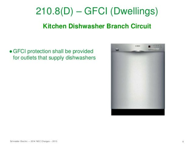 2014 Nec Updates Gfcis For Dishwashers Electrical Code Coding