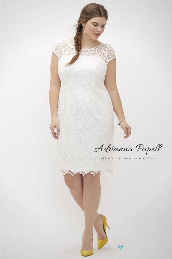 vestidos de civil para novias gorditas con estilo: 40 modelos