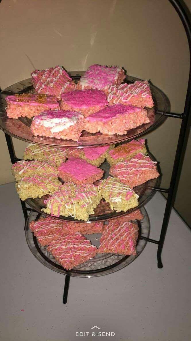 Rice krispie treats for baby shower | Rice krispie treats ...