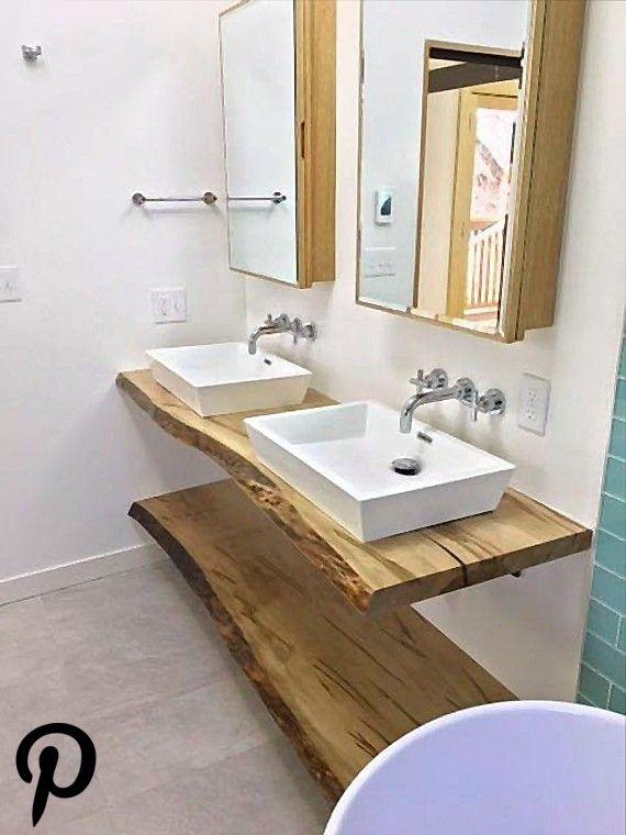 Live Edge VanityMaple Black Walnut Mirror Sink Live Edge VanityMaple Black Walnut Mirror Sink
