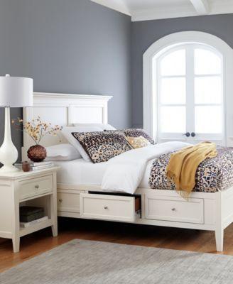 Attractive Sanibel Storage Bedroom Furniture 3 Piece Queen Set (Bed, Bachelor Chest,  And Nightstand
