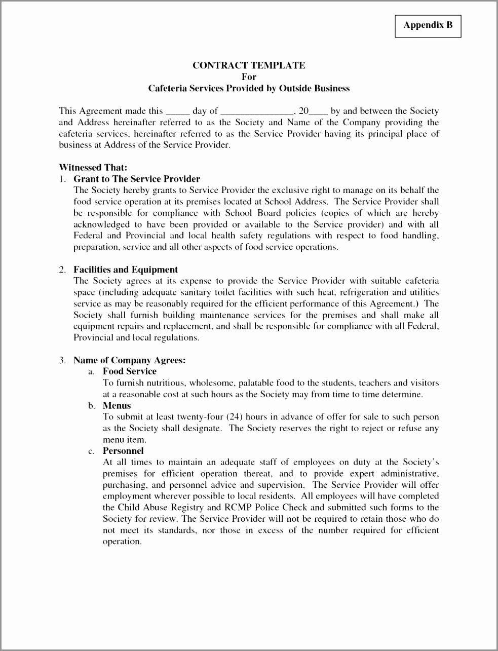 Security Guard Contract Template in 2020 (With images