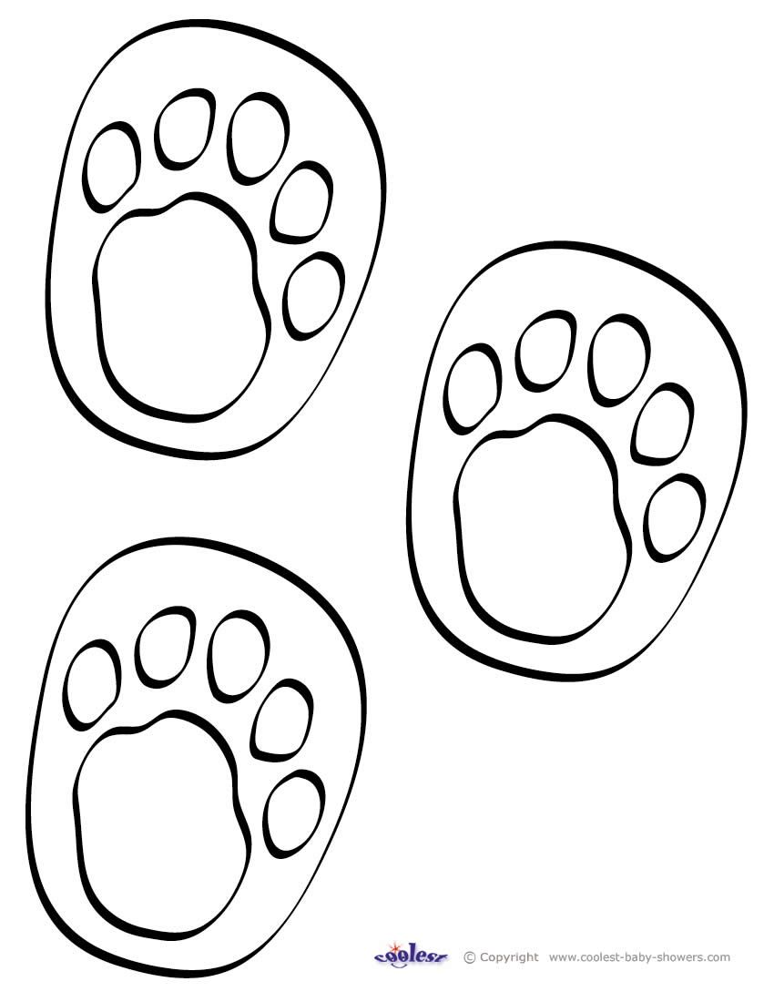 printable animal foot prints | print on yellow paper ...