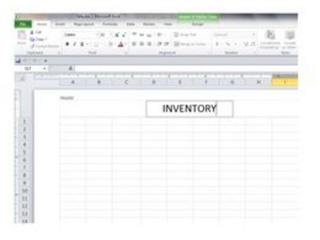 How to Create a Basic Inventory Spreadsheet With Excel Business