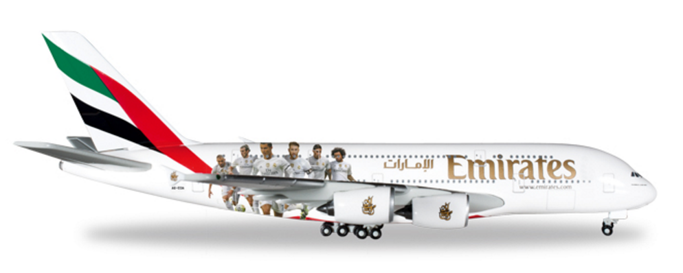 1 500 Herpa Emirates Airline Real Madrid Airbus A380 800 Diecast Model Emirates Airline Airbus A380 Airbus