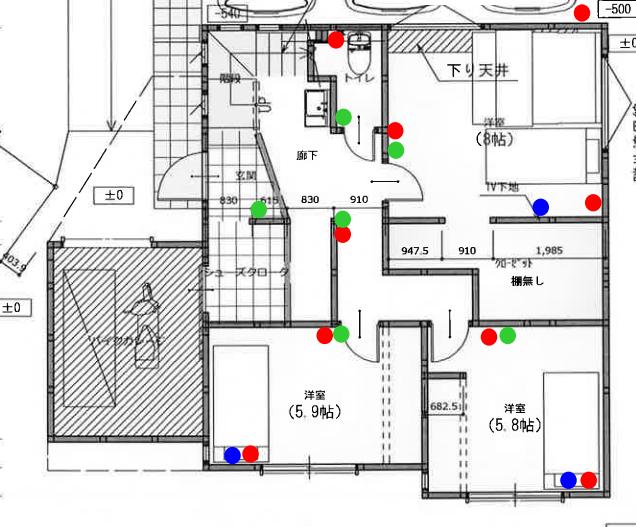 電気工事詳細2 スイッチ コンセント編 注文住宅 Architecterの建物わっしょい 壁掛けテレビ 配線 電気工事 換気扇