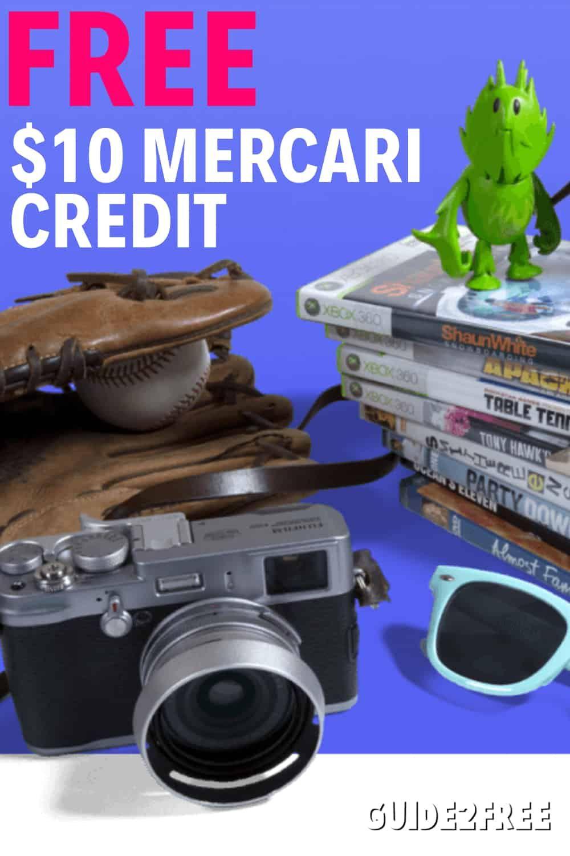 FREE 10 Mercari Credit = FREE Stuff Free money, Free