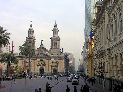 Plaza De Armas in Santiago Chile.