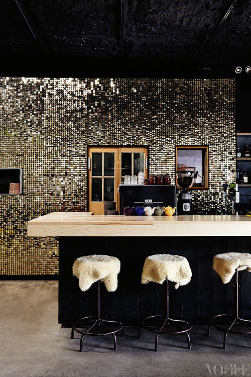 disco glam wall in Brisbane via @Vogue Living | Mountain Living ...