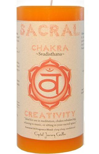 Crystal Journey Sacral Chakra Candle