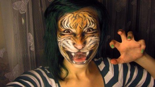 Tiger Makeup Tutorials and Tips   Wild and Crazy Makeup ... - photo#26