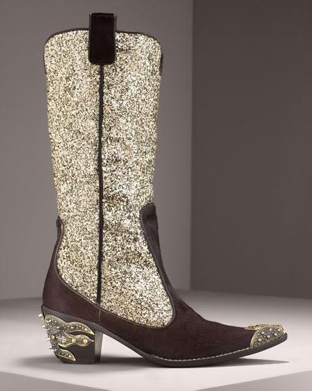 Giuseppe Zanotti Glitter Cowboy Boots iidCEp
