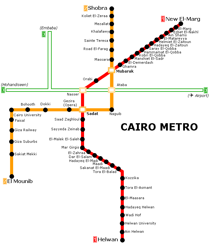 1987 Subway Map.Metro De Le Caire Metro Transit Maps Cairo Giza Subway Map
