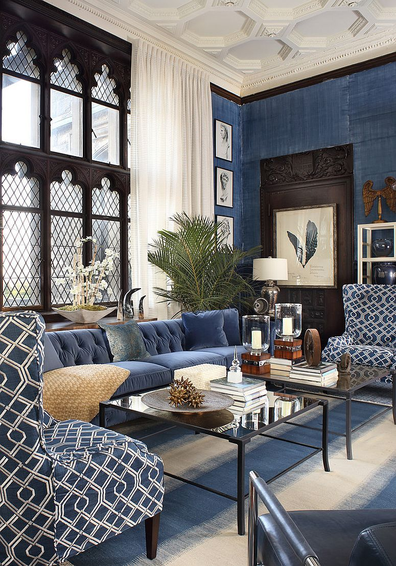 Refined New Twist: Trendy and Dashing Interiors in Blue and Black images