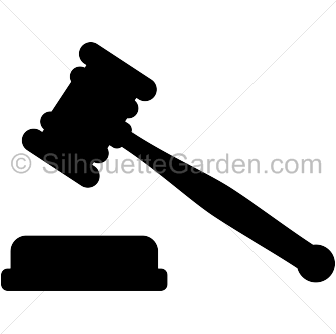 gavel silhouette clip art download free versions of the image in rh pinterest com gavel clipart black and white gavel clipart public domain