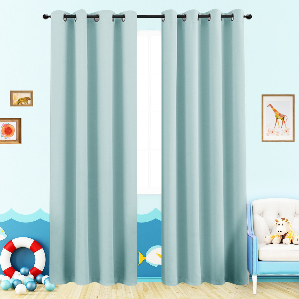 Amazon Com Grey Blackout Curtains For Bedroom 95 Inches Long