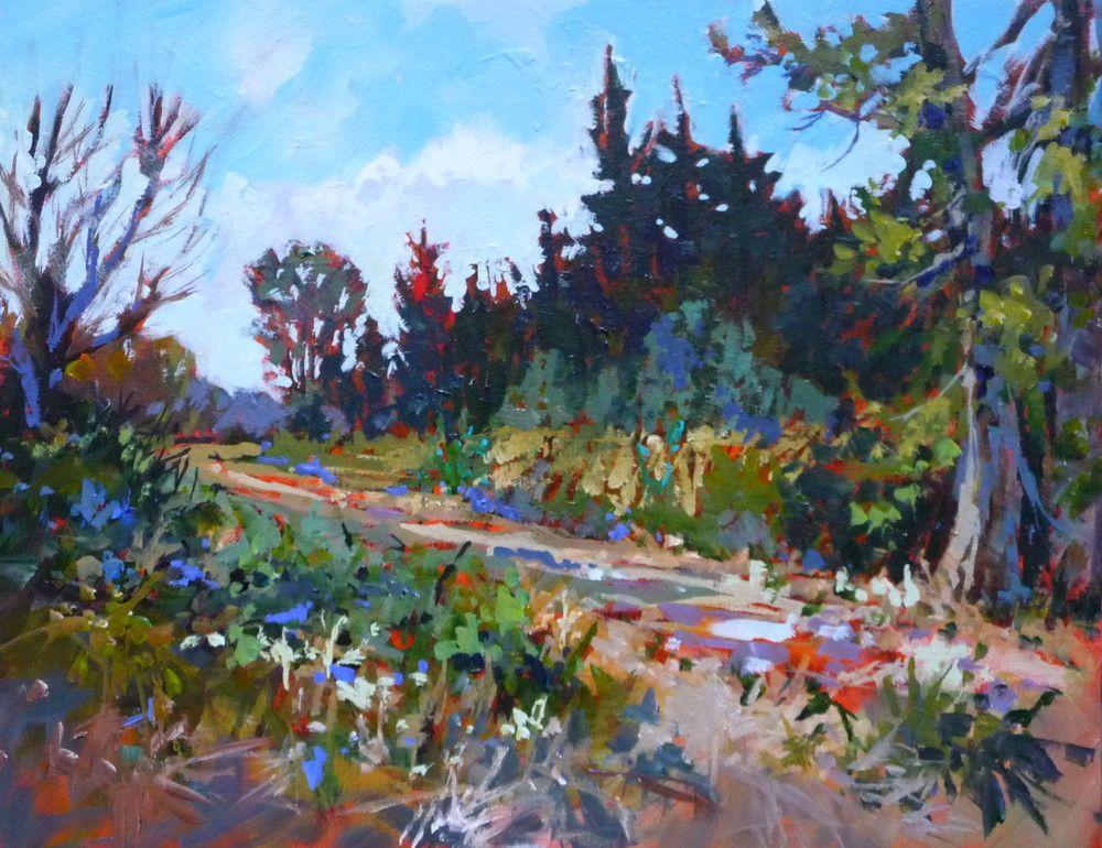 "14""x18"" Acrylic on canvas. Plein air, Serpentine River"