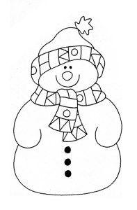 Mevsimler Kis Kardan Adam Noel Karti Desenler