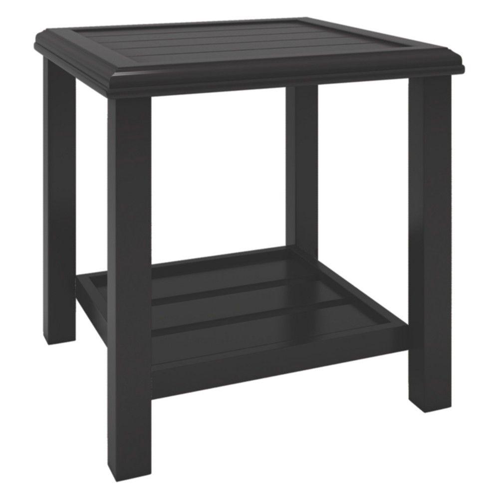 Shelf Dark Brown Ashley Furniture Signature Design Castle Island Outdoor Coffee Table Slate Style Top Coffee Tables