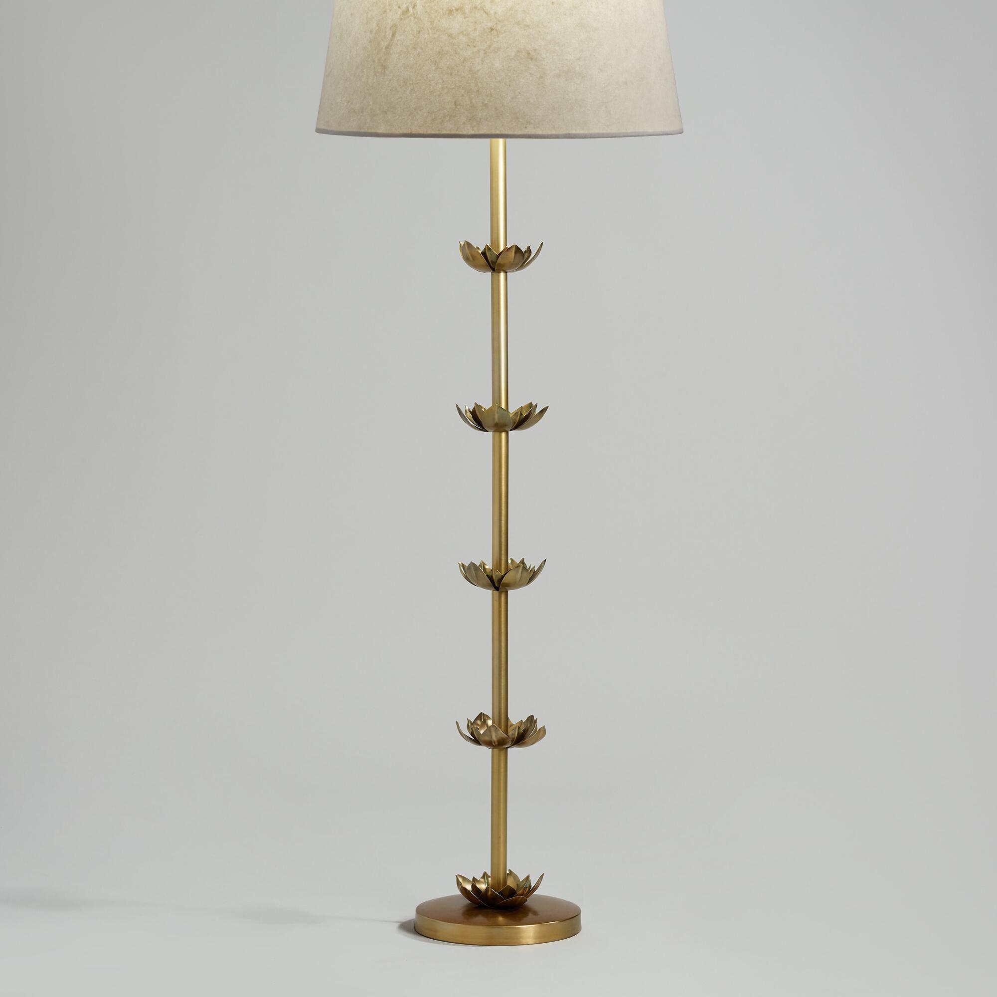 Brass Five Lotus Floor Lamp Base Brass Floor Lamp Floor Lamp Base Floor Lamp