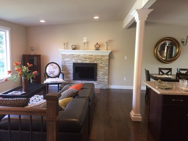 Transformed Split Entry Into Spacious Great Room With Classic Details For Entertaining Split