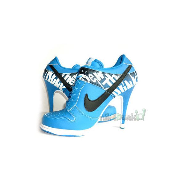 Nike SB Dunk High Heels Blue Black Do The Dew found on Polyvore featuring  polyvore,