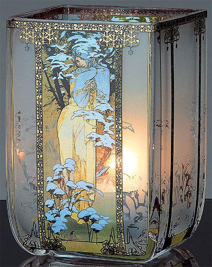 Teelicht Winter A Mucha Vase Have Never Seen Another One