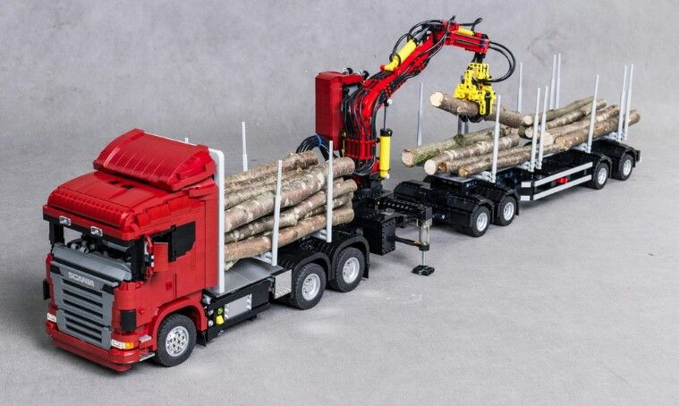 lego wood crane lego technic construction pinterest lego lego ideen und lego lkw. Black Bedroom Furniture Sets. Home Design Ideas